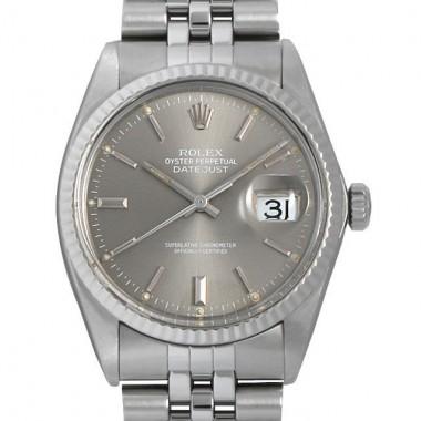 ロレックス 腕時計 デイトジャスト 74番 16014 グレー/バー メンズ