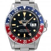 ロレックス 腕時計 GMTマスター 赤青ベゼル 31番 1675 メンズ