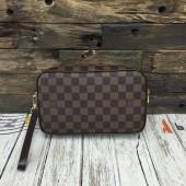 ルイヴィトン ポシェット・サンポール ダミエ・キャンバス カードケース  財布 ハンドバッグ コーヒー N41219